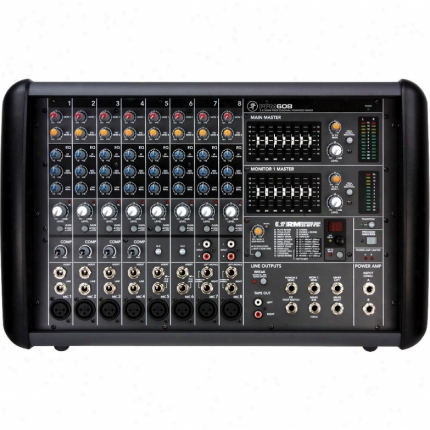 Macki ePpm608 1000-watt Professional Powered 8-channel Mixer W/ Effects