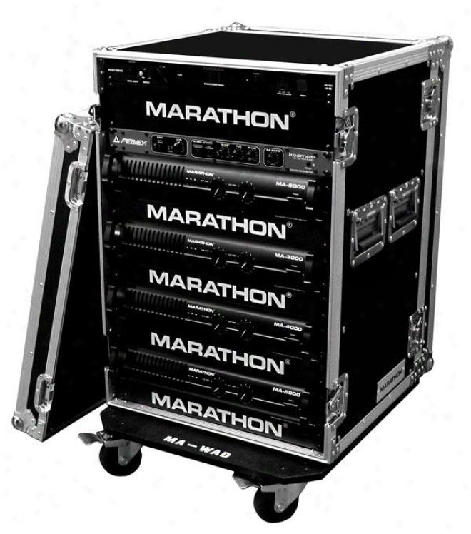 """Marathon Pro 16u Amplifier Deluxe Case - 18"""" Body Depth W/wheels"""