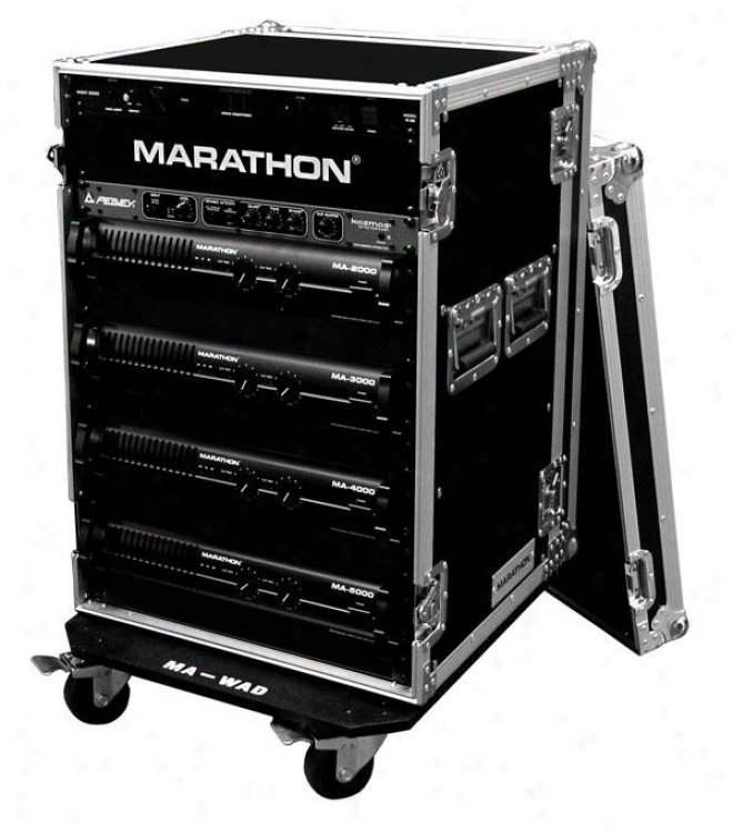 "Marathon Pro 18u Amplifier Deluxe Case, 18"" Body Depth W/wheels"