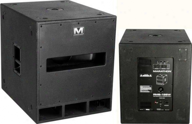"Marathon Pro 800 Watt High Power Active 18"" Subwoofer System"