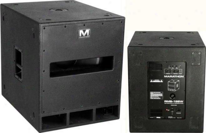 """Marathon Pro 800 Watt High Power Active 18"""" Subwoofer System"""
