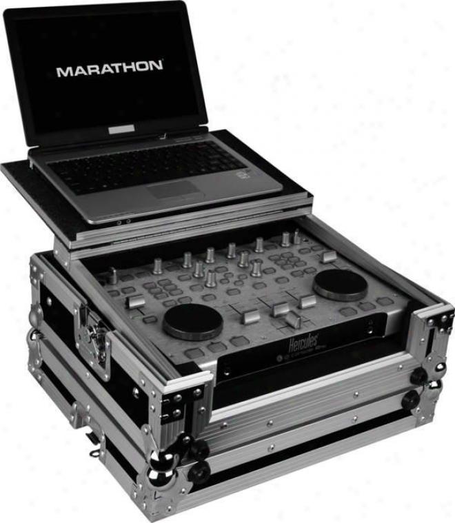 Marathon Pro Case To Hold 1 X Hercules Rmx Controller Attending A Laptop Shelf