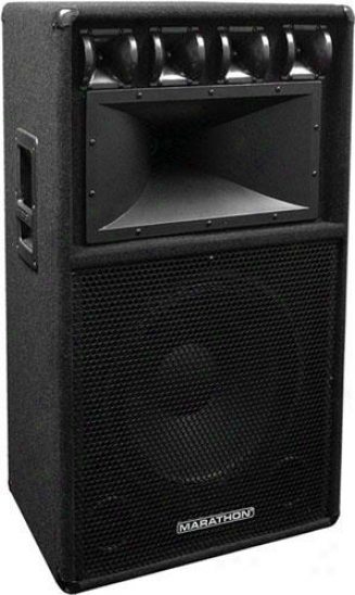 "Marathon Pro Dj-153 Single 15"" 3-way Loudspeaker, Pa-1550 Equipped"