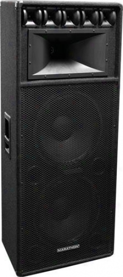"Marathon Pro Dj-2153 Dual 15"" 3-way Loudspeaker, Pa-1550 Equipped"