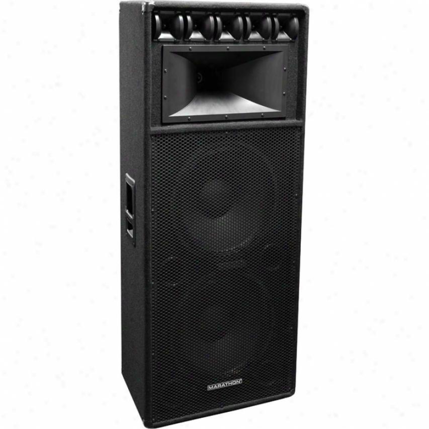 """Marathon Pro Dj-2183 Dual 18"""" 3-way Loudspeaker, Pa-18100 Equipped"""
