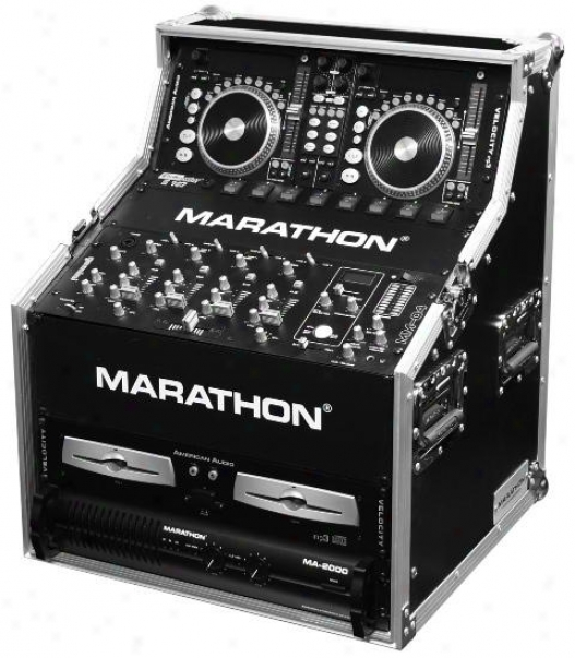 Marathon Pro Dual Cd Control & 19-in Mixer Dj Work Station Head Rack 3u, Mid 7u,
