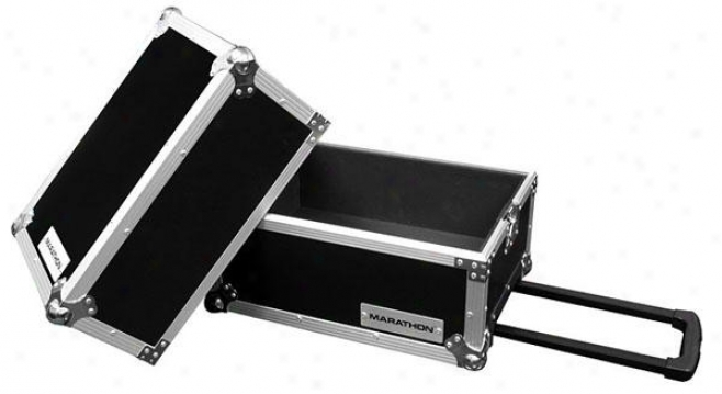 Marathon Pro Flight Ready Ma-lphw Deeluxe Lp Case Holds 100, Wheels & Touch