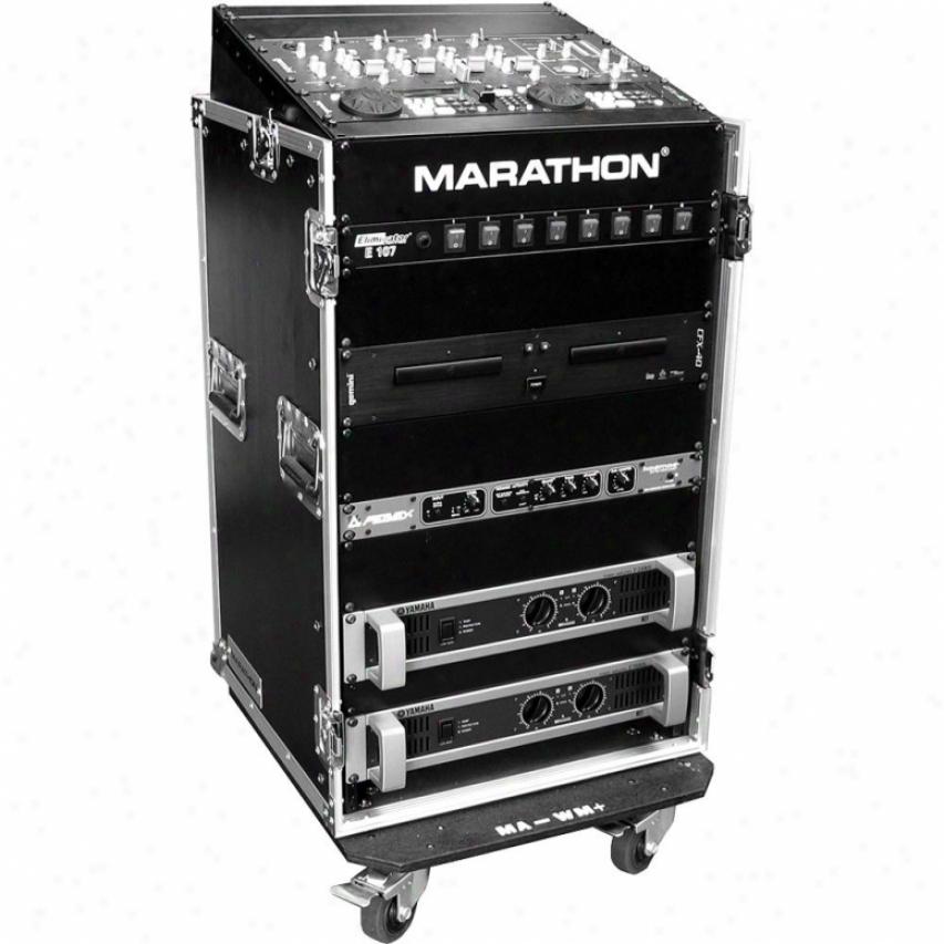 Marathon Prp Flight Ready Ma-m16uw 10u Slant Mixer Rack / 16u Vertical Rack Syst