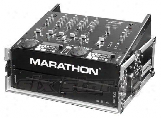 Marathon Pro Flight-ready Ma-m2u 10u Slant Mixer Rack / 2u Verticall Rack Sys
