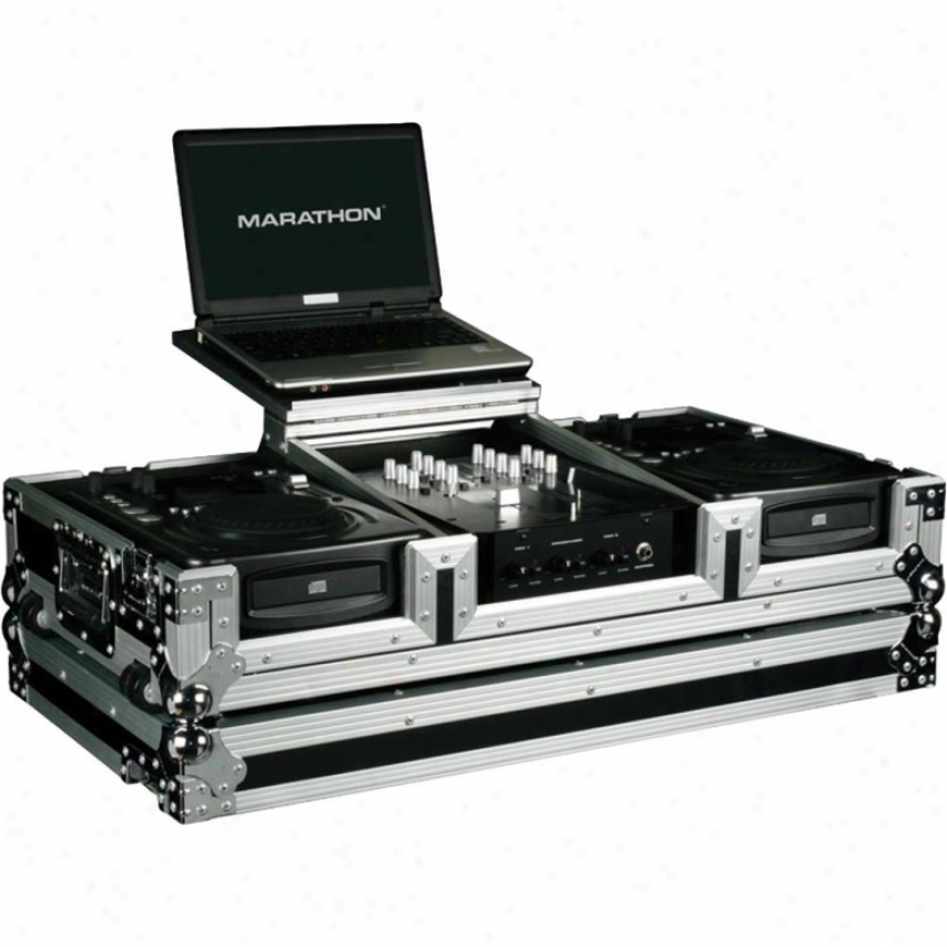 "Marathon Pro Holds 2 X Mean Format Cd Players & A 10"" Mixer"