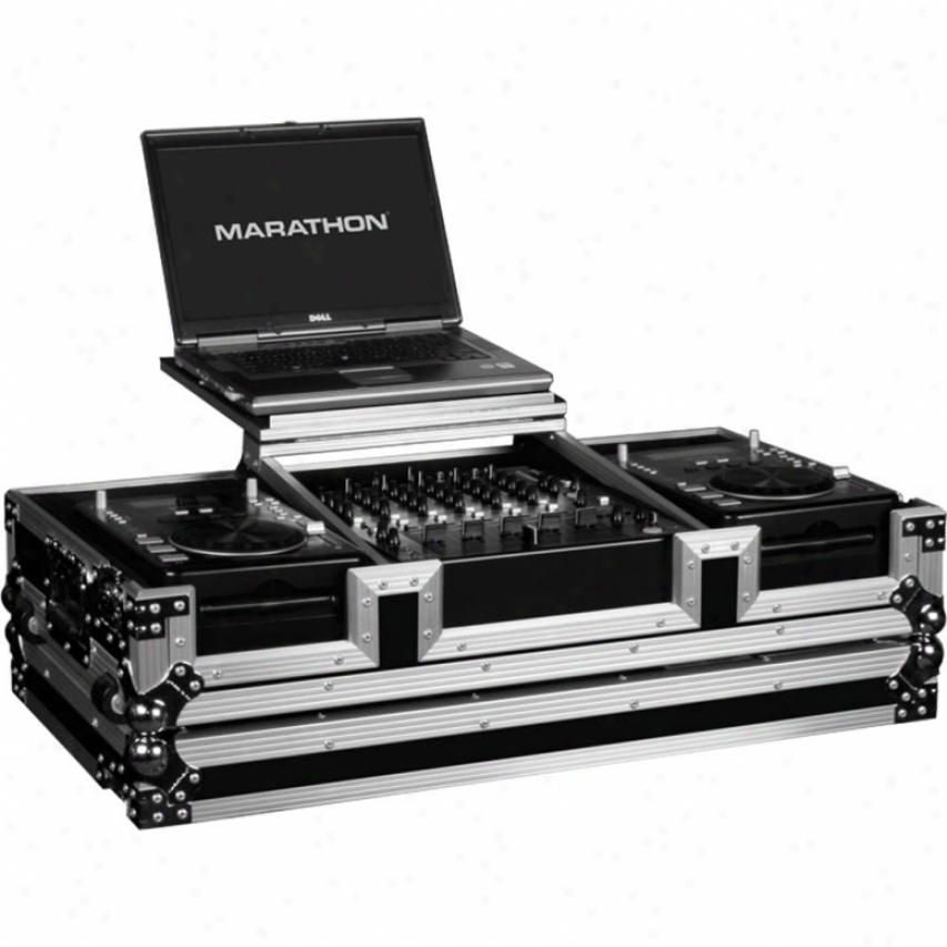 "Marathon Pro Holds 2 X Small Format Cd Players +12"" Mixer W/laptop Shoal"