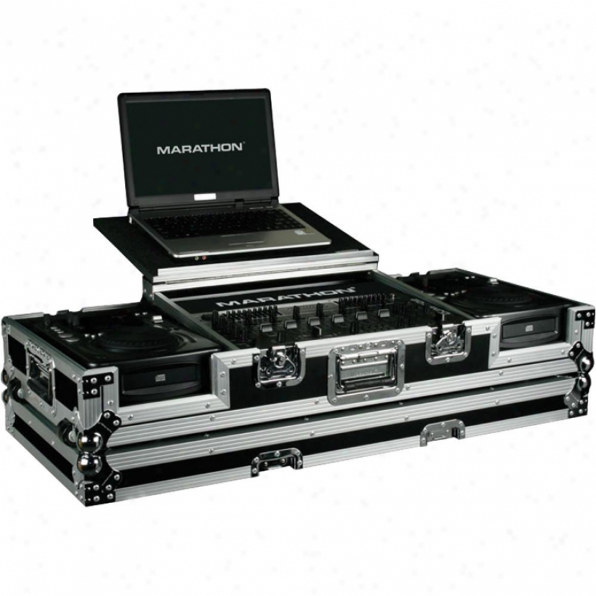 "Marathon Pro Holds 2x Medium Format Cd Players + 19"" Mixer Plus Laptop Shelf To"