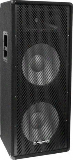"Marathon Pro Jr-125 Close Dual 15"" Two Way Portable Loudspeaker"