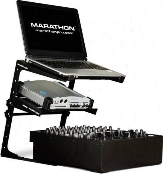 Marathon Pro Laptop Stand W/shelf Combo, Laptop Stajd Package
