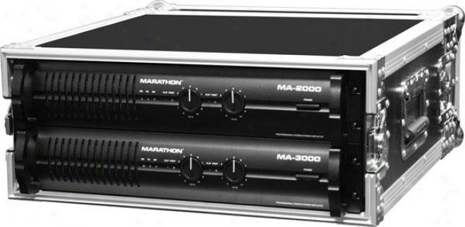 Marathon Pro Ma-4uad 4u Amplifier Deluxe Case
