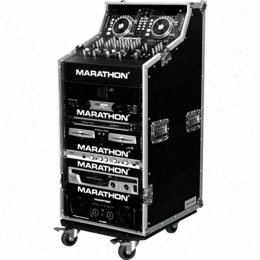 Marathon Pro Ma-djws16w Dj Work Station W/caster Kit