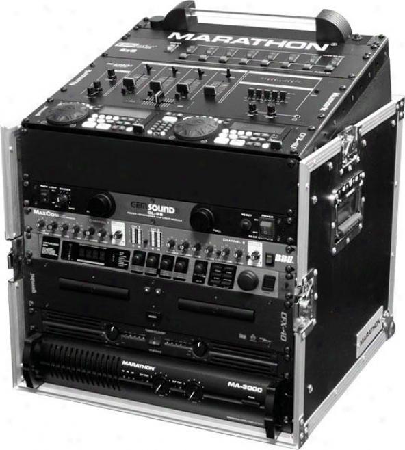 Marathon Pro Ma-m10u 10u Slant Mixer Rack/ 10u Vertical Rack System