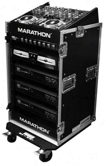 Marathon Pro Ma-m14uw 10u Slant Mixer Rack / 14u Perpendicular Rack System
