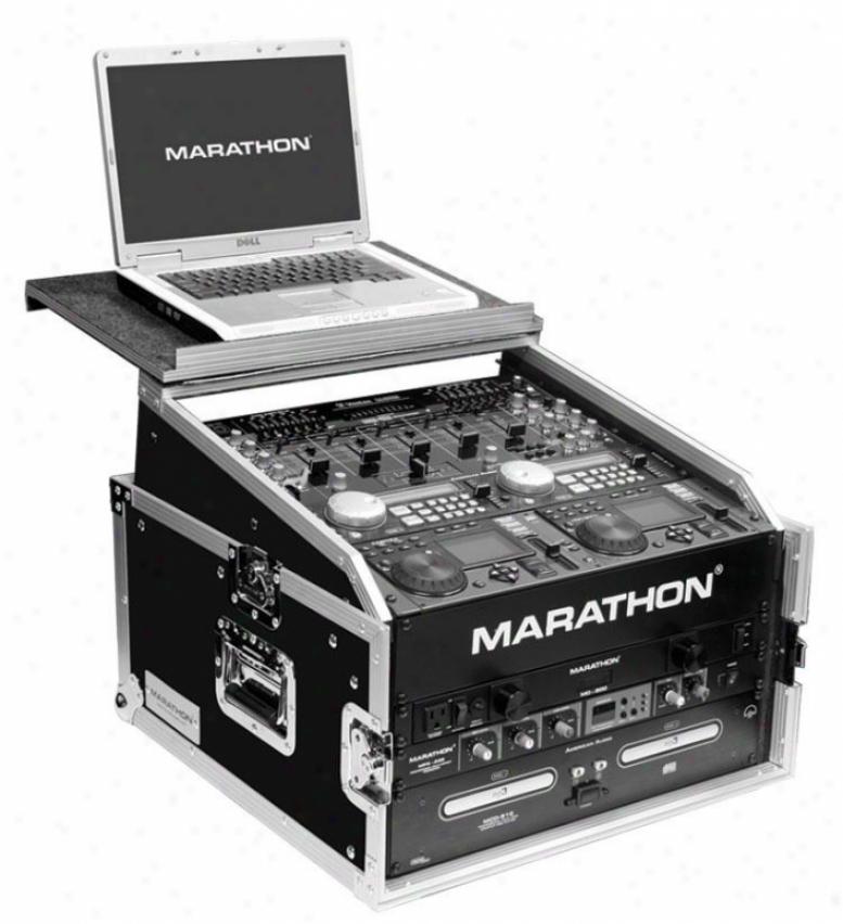 Marathon Pro Marathon Flight Ready Cases Ma-m4ult Combo Case W/ Laptop Shelf