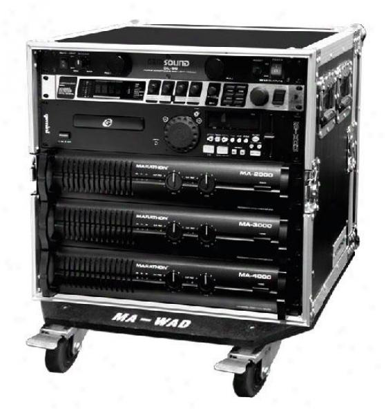 "Marathon Pro Marathon Ma-10uad21w 10u Amplifier Deluxe Case - 21"" Body Depth Wit"