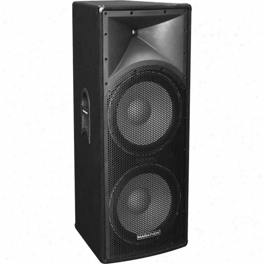 "Marathon Pro Open Box Ent-215 Dual 15"" 2-way Loudspeaker"