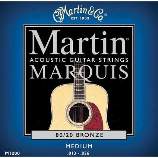 Martin Strings M1200 Marquis 80/20 Bronze Medium Acoustic Strings