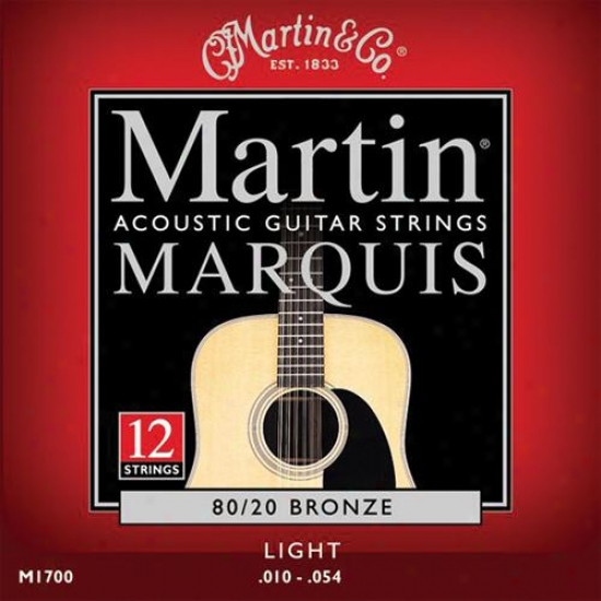 Martin Strings M1700 Marquis Bronze 12-string Acoustic Guitar Strings