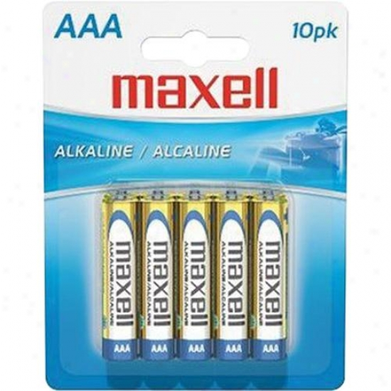 Maxell Aaa Alkaline Battery - Pack Of 10