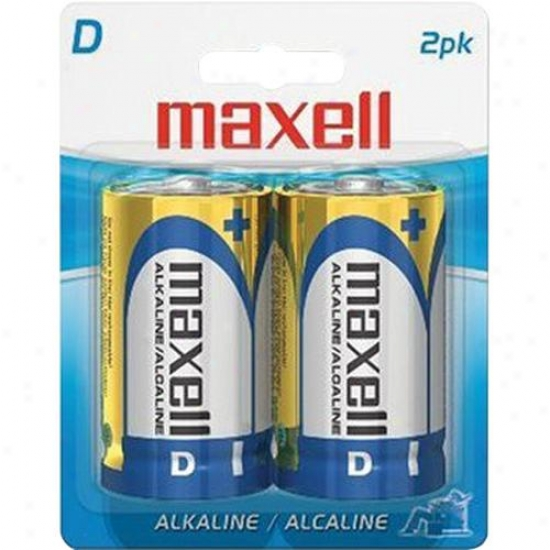 Maxell D Battery - Pack Of 2 Batteries