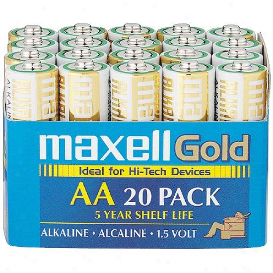 "Maxell Lr6 20-pack ""aa"" Alkaline Batteries"