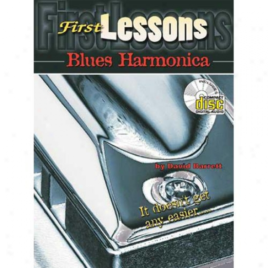 Mel Bay 20180bcd First Lessons BluesH armonica Book/cd Set