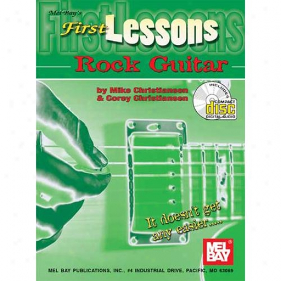 Mel Bay 99820bcd First Lessons Rock Guitar Book/cd Set