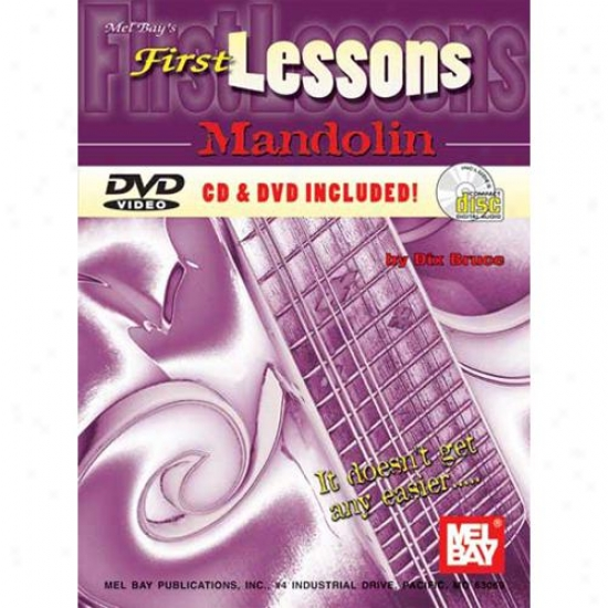Mel Bay 99945set First Lessons Mandolin Book/cd/dvd