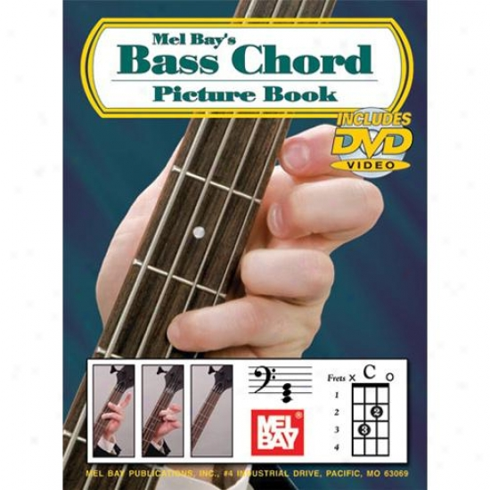 Mel Bay Bass Chord Picture Book And Dvd Set