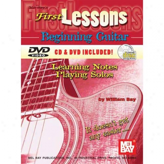 Ml Bay First Lessons Beginning Guitar - Learning Notes / Playing Solos