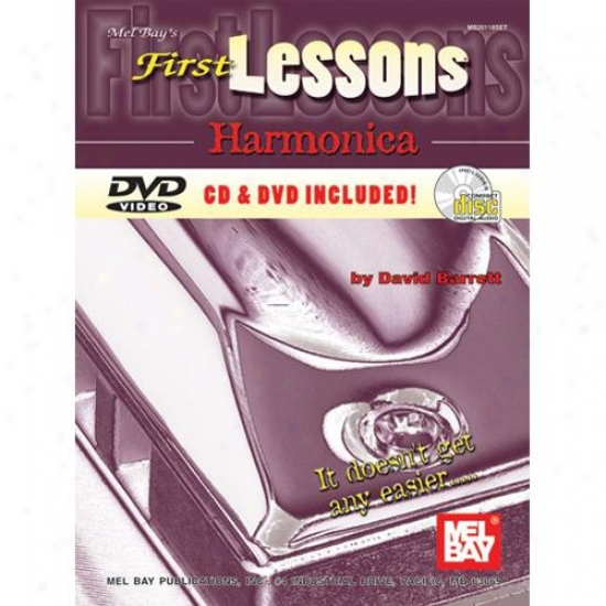 Mel Bay First Lessonx Harmonica Book/cd/dvd Set