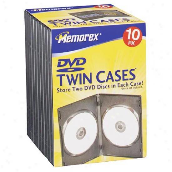 Memorex 3202-1988 Dvd Twin Storage Cases