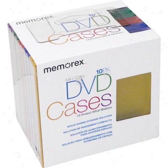 Memorex 32020018597 Mini Dvd Cases - 10-pack