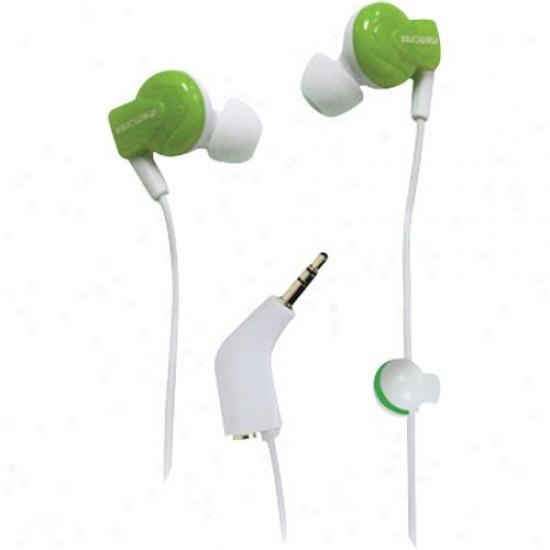 Memorex In-earheadpnns-tween Clip Grn