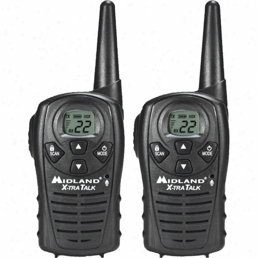 Midland Lxt118vp 22-channel Gmrs 2-wzy Radio Pair Value Pafk