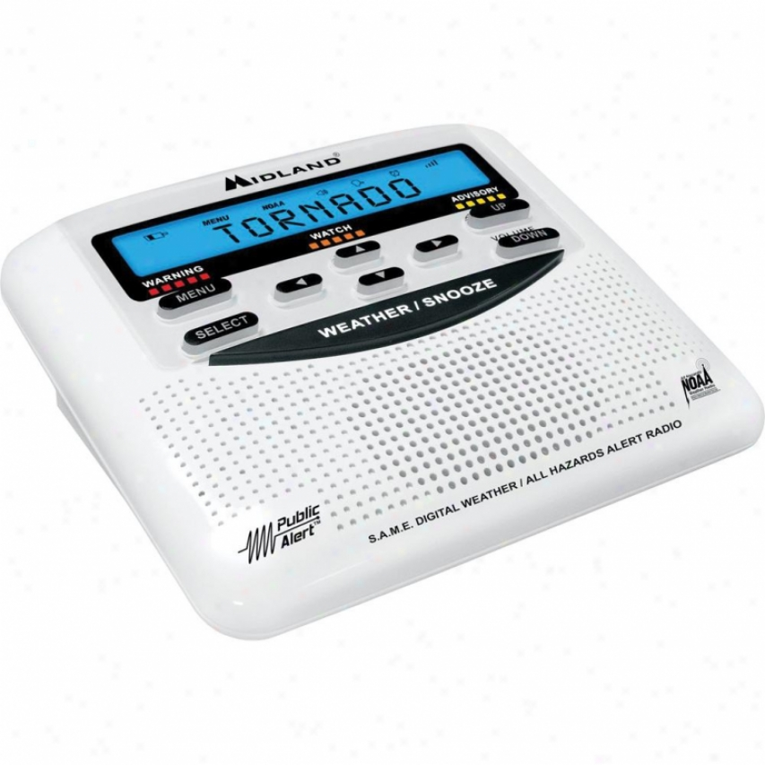 Midland Weather & All Hazard Public Alert Certified Clock Radio Wr120b