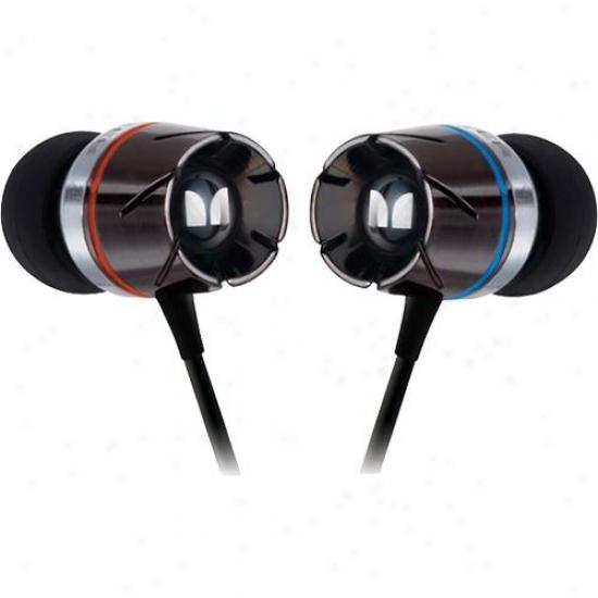 Monster Cable 127593 Turbine In-ear Speakers Headphones - Black Chrome