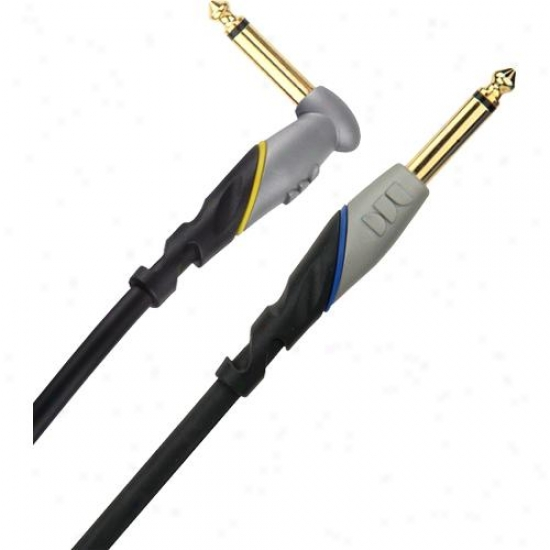 """Monster Cable 600170-00 Angled To Straight 1/4"""" Plugs - 12 Ft._Instrument Cable"""