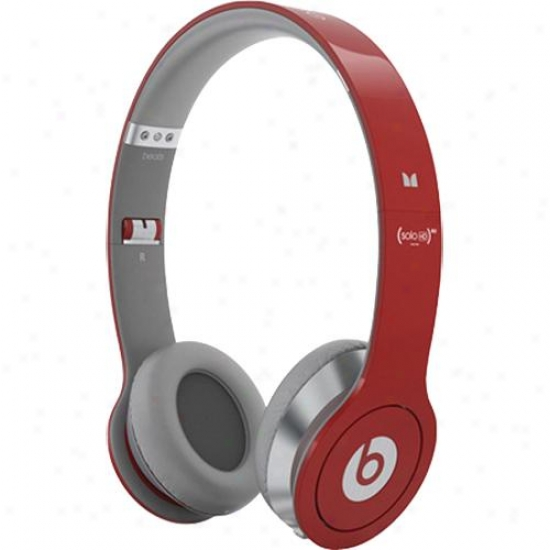 Monsetr Cable Beats Solo Hd On-ear Headphones W/ Controltalk - Iphone/ipod - Red