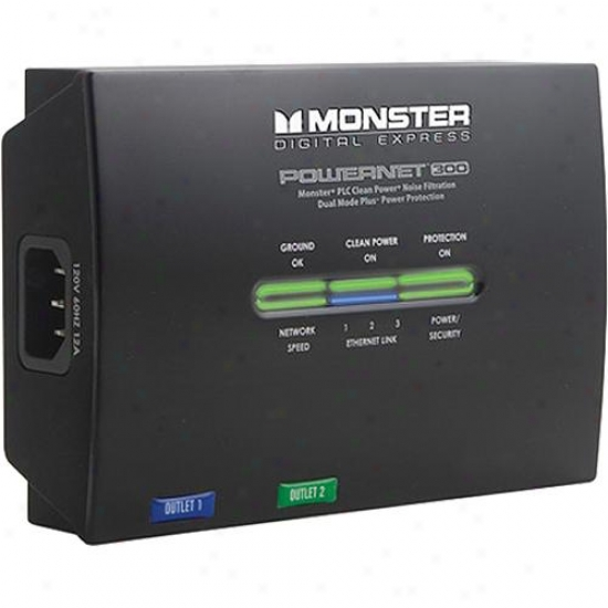 Monster Cable Digital Express Powernet 300 2-outlet Powerline