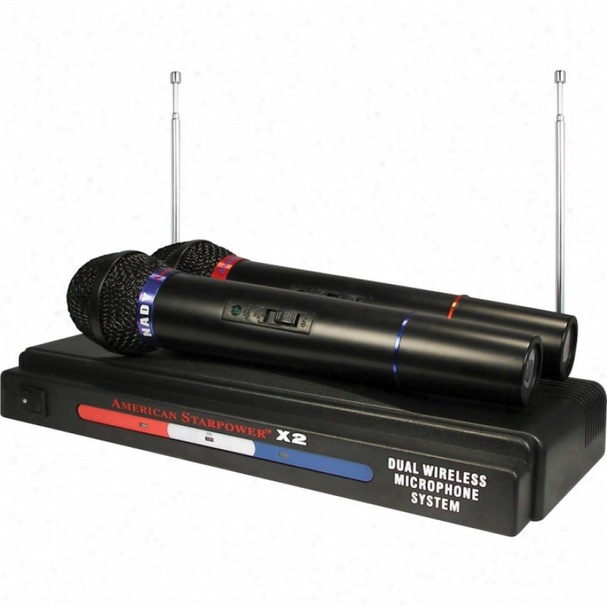 Nady Systems American Starpower X2 Vhf Wireless Microphone System