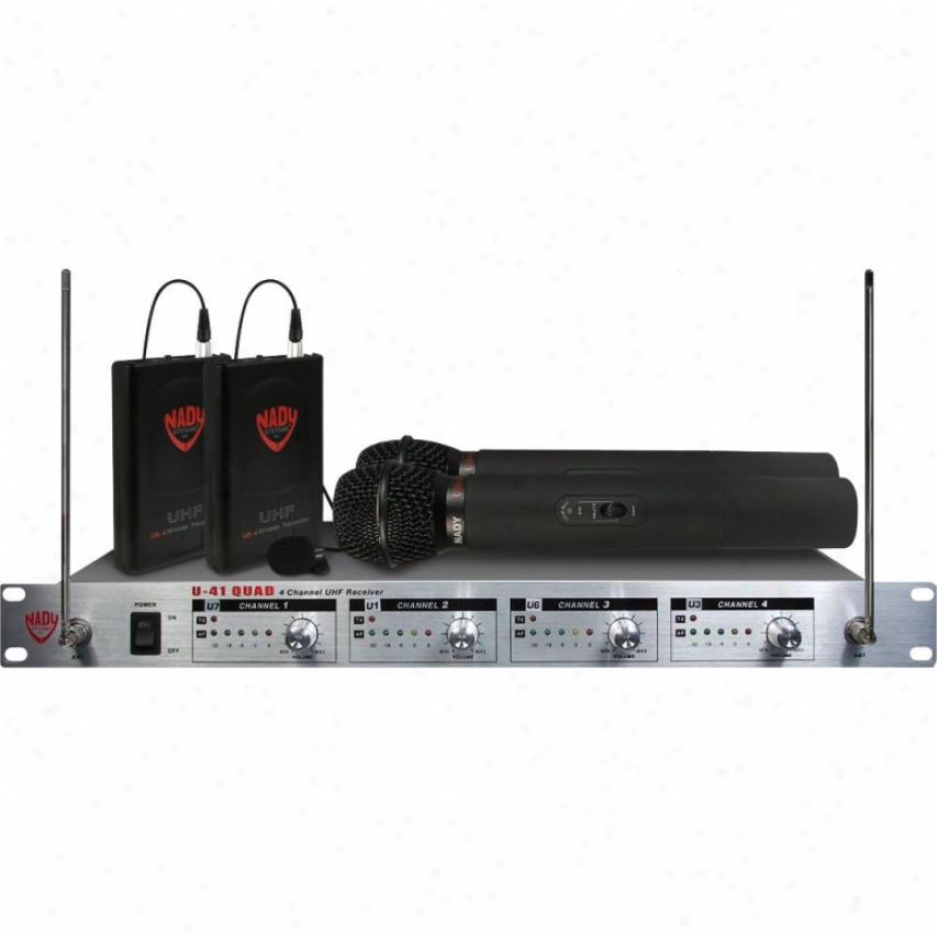 Nady Systems Cardioid Dynamic Handheld Wireless Microphone U41qjadht