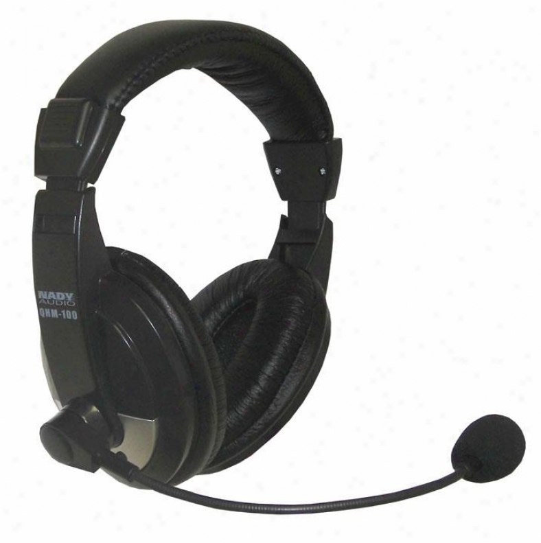 Nady Systems Closed-back High Quality Headphone W/boom Condenser Mic