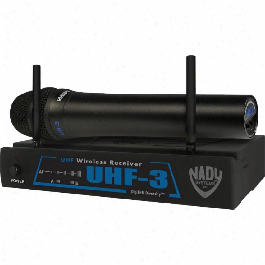 Nady Systems Uhf-3 Handheld Wireless Microphone System - Uhf-3 Ht/mu4