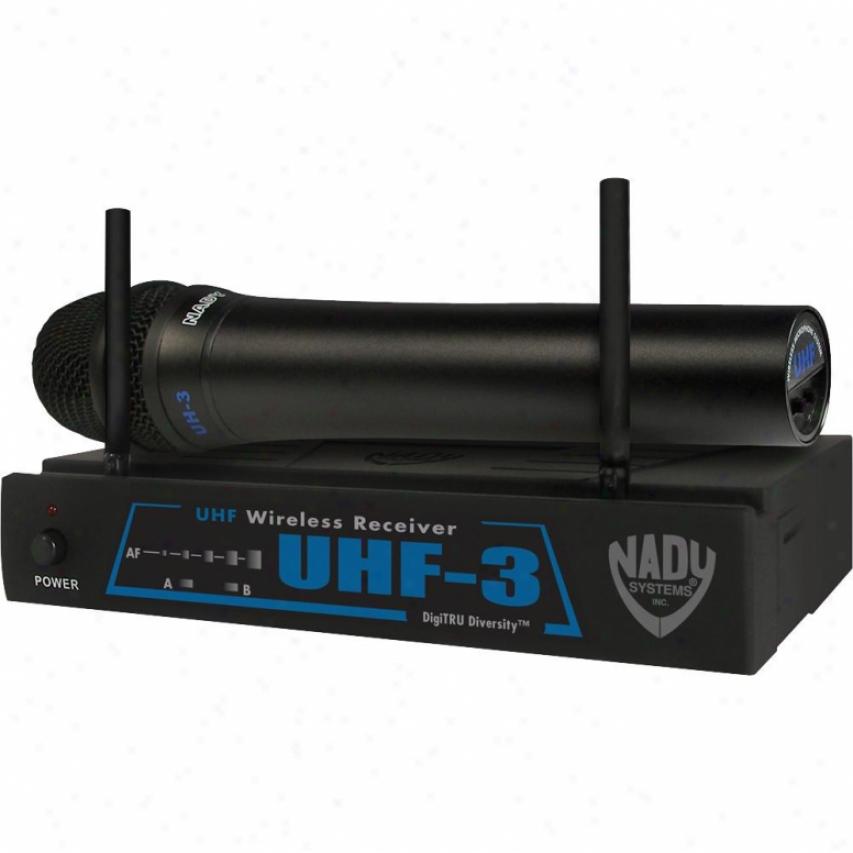 Nady Systems Uhf-3 Handheld Wireless Microphone System - Uhf-3 Ht/mu6